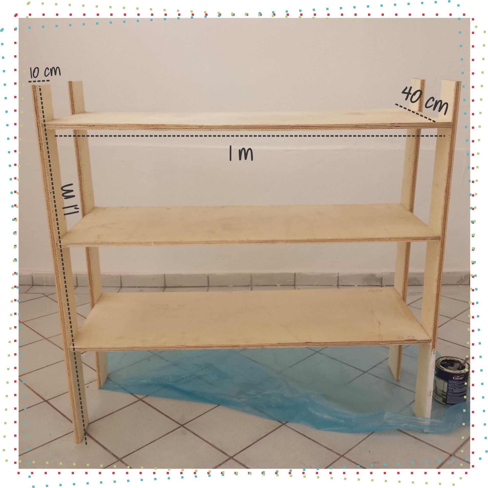 que com uma folha de madeira daria para fazer umas três estantes como  #A22934 1912x1915